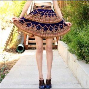 Anthropologie Edmé & Esyllte Pleated Skirt
